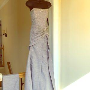 PUTROS COUTURE sz 4 gray gown formal wedding dress